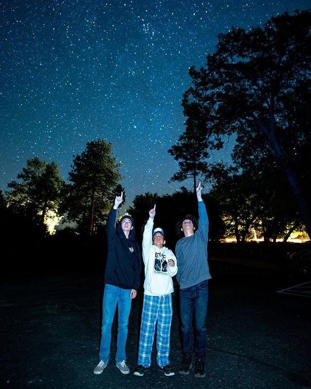 Star struck at the Freshmen/Senior Overnight 🤩