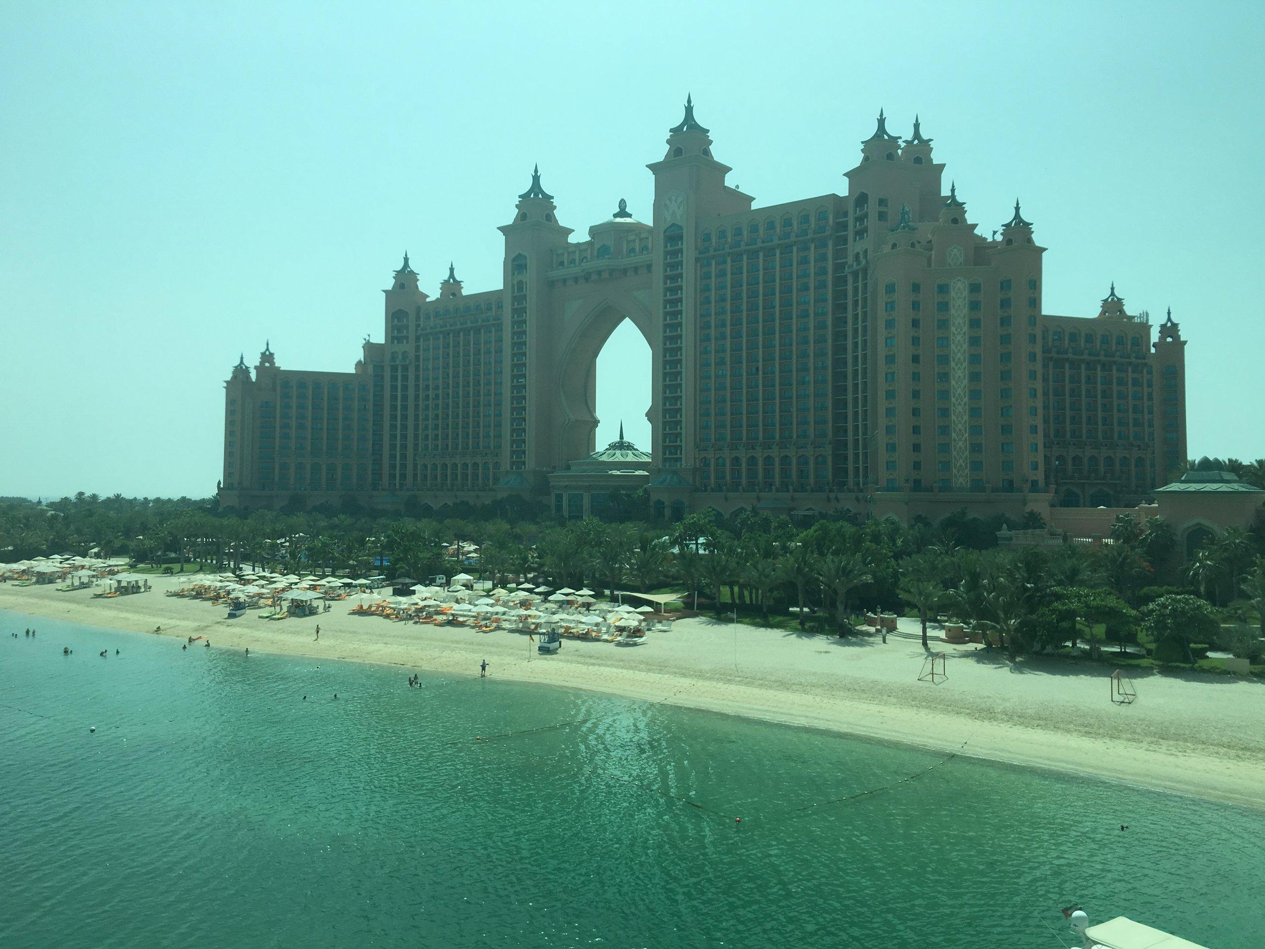 Atlantis, The Palm set on the iconic Palm Jumeirah island, Dubai.