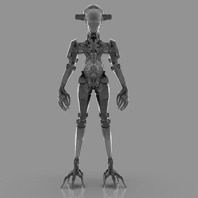 Colorway 1 of the 3rd and final iteration of the robot I am working on in my Pixologic streams,  #ZBrush2019 #conceptdesign, #scifi #Mech #marchofrobots2019 #bandesdessinees #robots #ZBrush #ZBrushLive