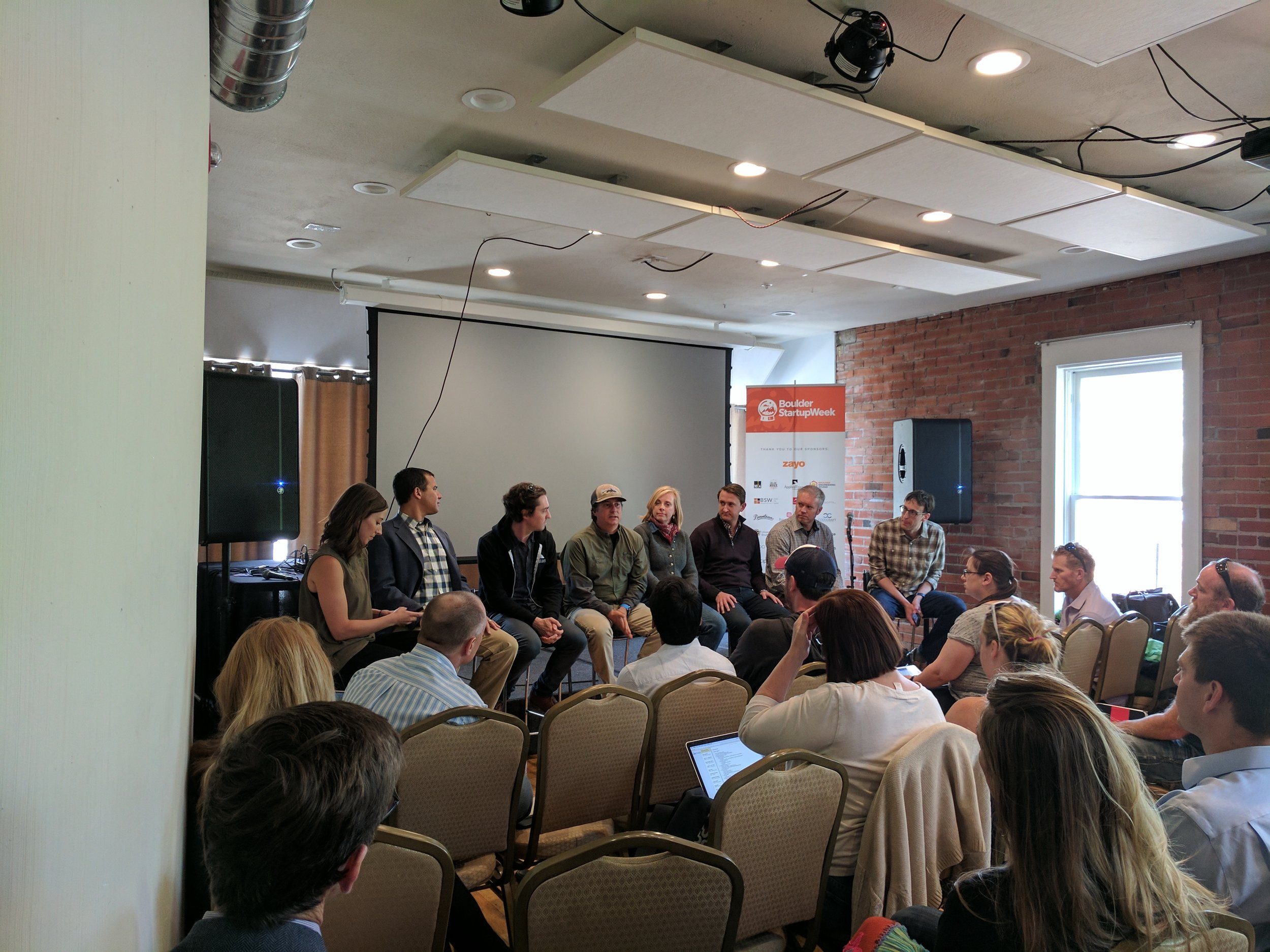 """TVA Mentor,  Len Metheny , on a panel discussing """"Should my Company Apply to an Accelerator."""""""