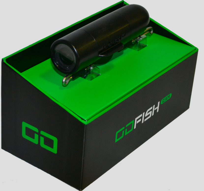 GoFish Cam - GoFish Cam is an underwater fishing camera that sits on your fishing line and works with a mobile application. Use in fresh or salt water for casting, trolling, bottom fishing, or float fishing.
