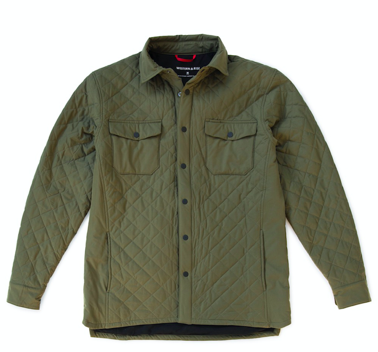 Western Rise - A modern jacket offering wearable versatility in the broadest range of temperatures and environments. We updated our favorite, classic quilted jacket with dynamic stretch and an industry-leading quick-dry and packable insulation to keep you comfortable, warm and dry in any condition.The modern cut provides freedom of movement and a flattering fit to make the AirLoft Quilted Jacket a staple you can wear alone or use as an insulation layer from Fall through Spring. AirLoft™ uses Toray's new 60g 3DeFX+® hollow-core, 4-way stretch insulation for ultimate performance in the widest range of situations.Its continuous fiber technology is loftier and warmer than any other synthetic insulation option, and ideal when the need for warmth, breathability, and flexibility intersect.This breakthrough technology is paired with a new self cleaning, 4-way stretch, Primeflex® exterior fabric with a C6 DWR for dirt, stain, and weather resistance optimized for cool-weather activity.