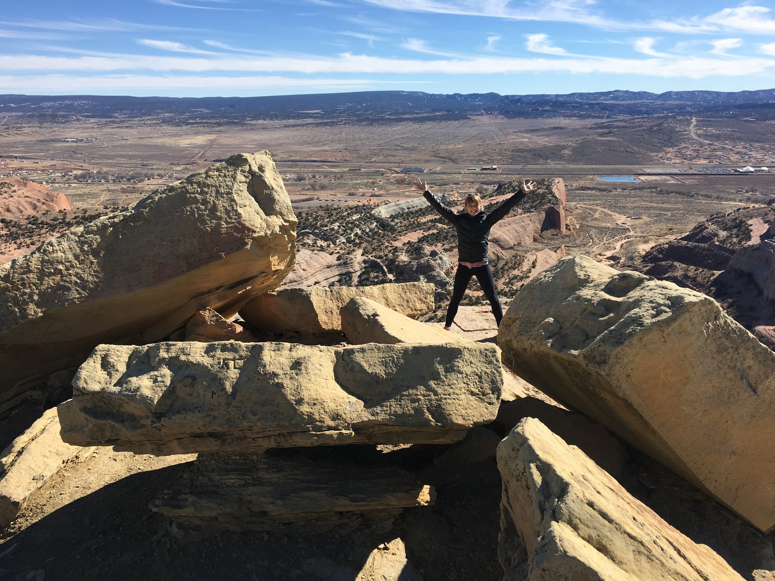 Hiking (my all time favorite movement second only to horseback riding) somewhere in New Mexico this March...