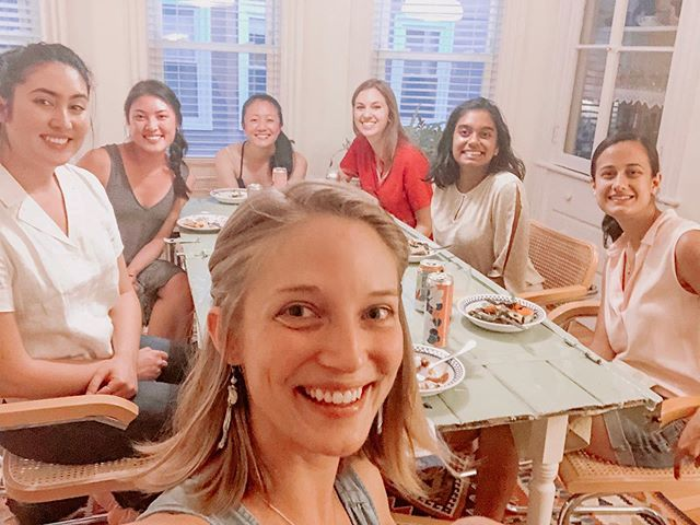 "Someone asked me yesterday ""where I find my people"".. as if they were a scarce resource.  On one hand.. yes, good people are hard to find. On the other, good people are everywhere! We bump into them in a cafe, stand in a checkout line with them at the grocery, jog by them on our daily runs.  The thing that makes it ""hard"" is we very rarely crack our door to make room for OURSELVES to be found. We don't say ""hi"", we don't ask for help, we don't invite a new acquaintance for coffee or dinner. Ultimately.. our own vulnerability and willingness to ""open the door"" is what allows us to find other people we might connect with.  It doesn't always work. Sometimes you open the door and the person doesn't see it, doesn't want to see it, or isn't ready to see it.. but ultimately it's on us to set the stage for new relationships to blossom. And often that's by making ourselves uncomfortable and ""going first"". What do you think about this? Do you struggle to find good people? What has helped?  Photos from a women's night at my summer digs. 💕"
