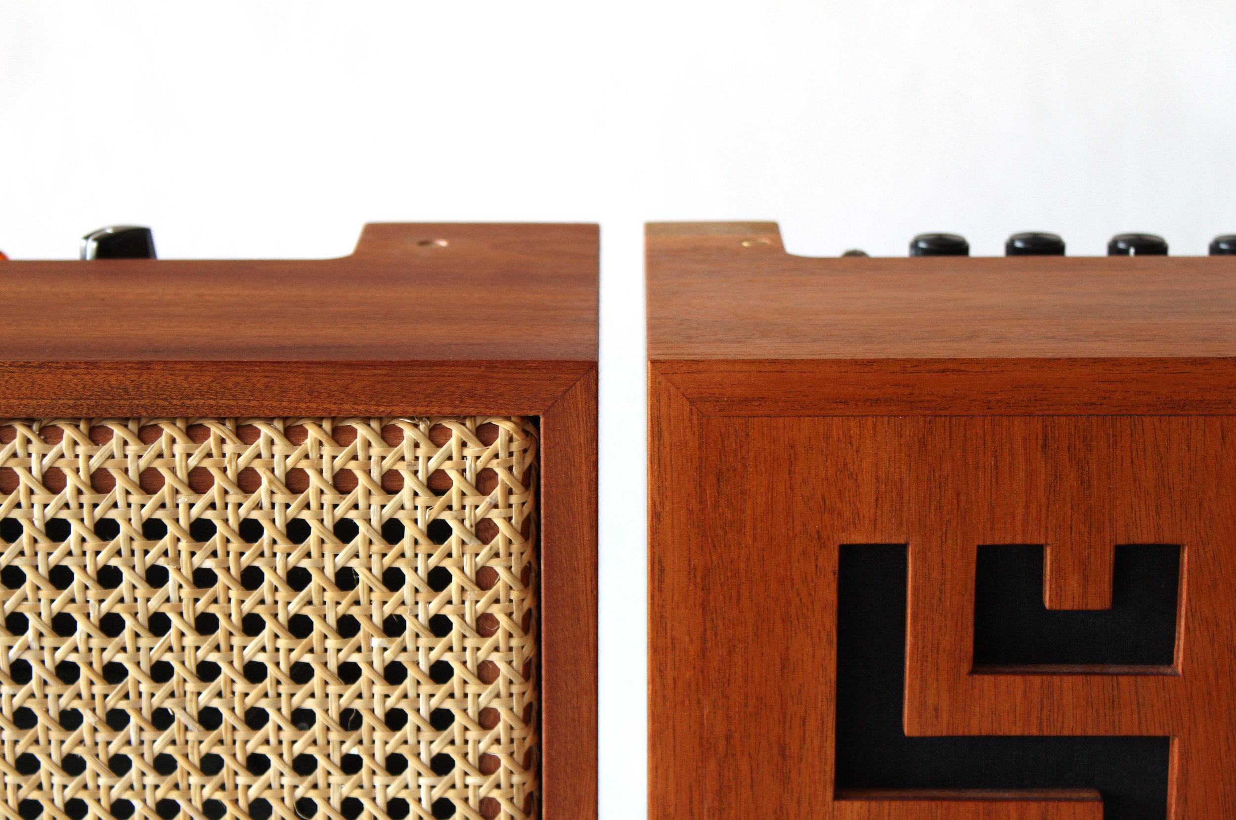 custom amp, mahogany, design, montreal design