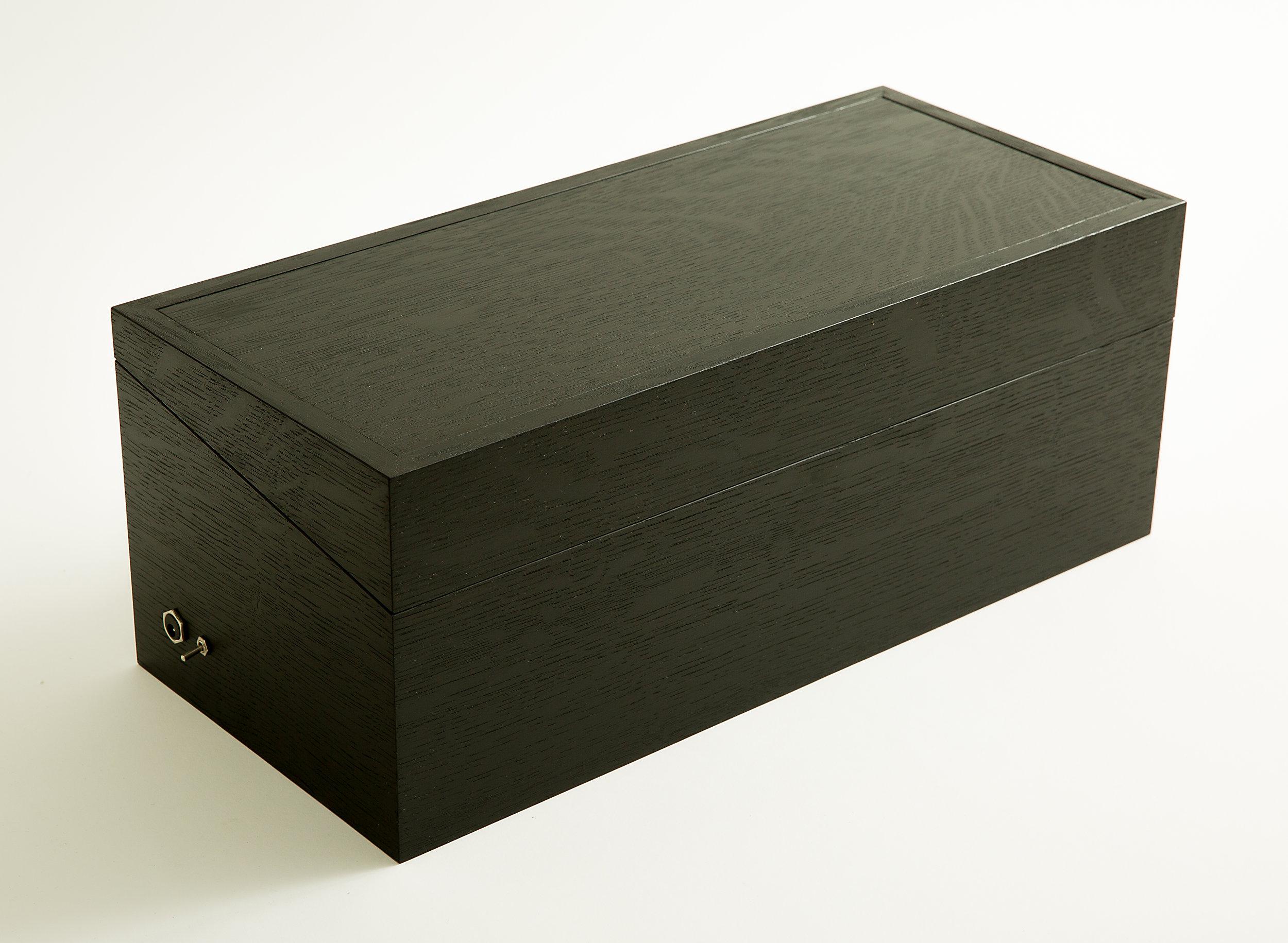 Emma Senft, Montreal, Custom, Wood, Fine Furniture, Solid Oak, Reclaimed Wood, Modern finish, analog synthesizer