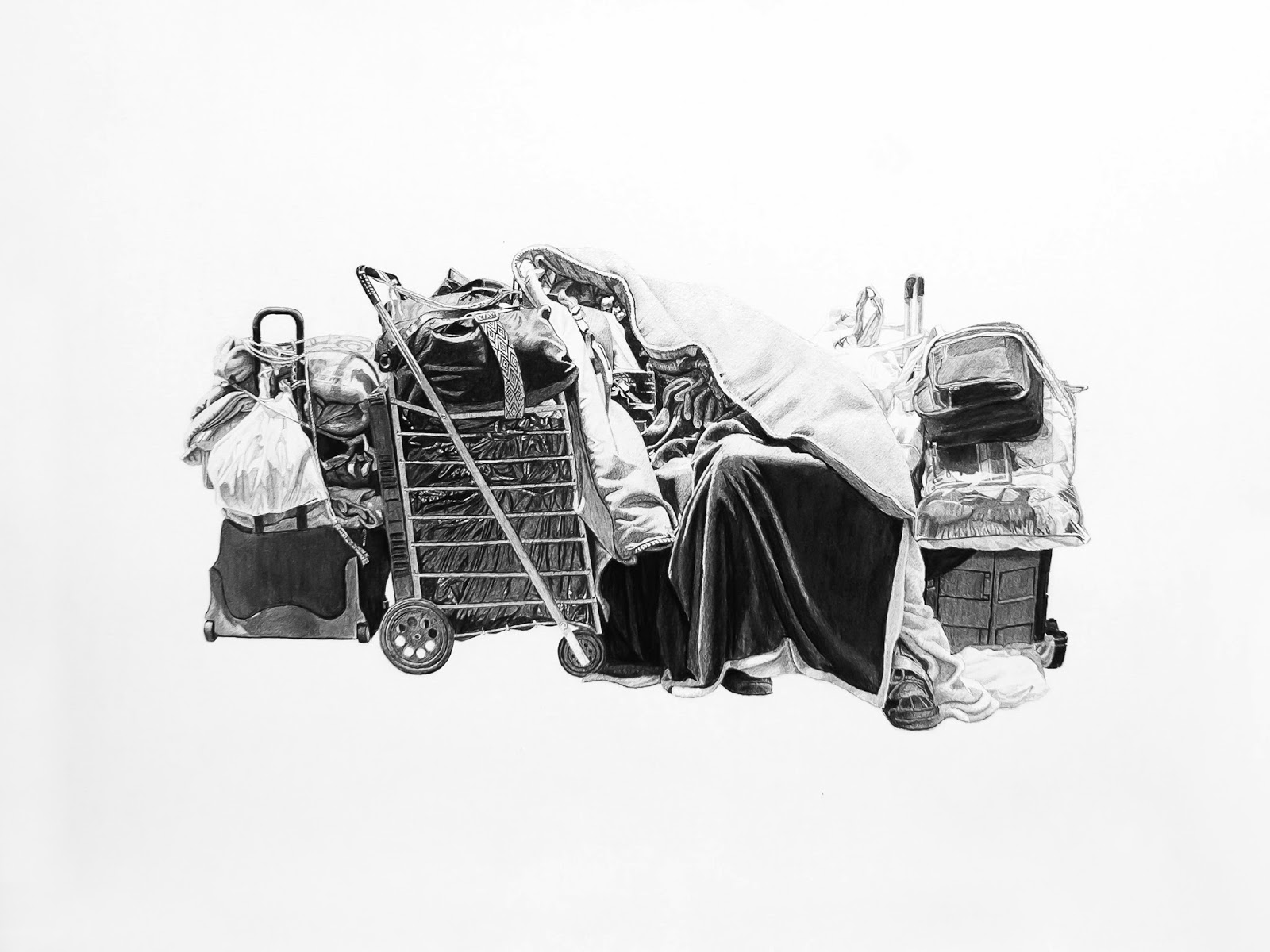 Clarissa, Sleeping | 18x24in | Charcoal and Graphite on Paper | 2013
