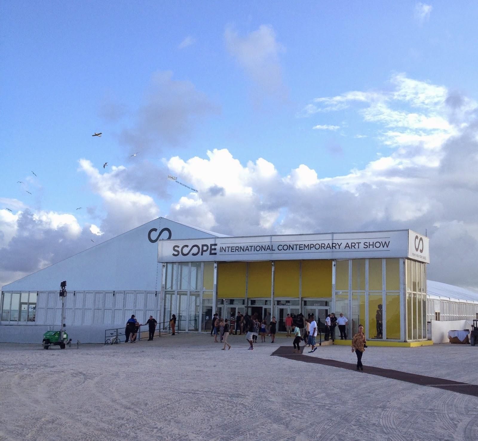 Scope Art Fair is quite literally on the beach.
