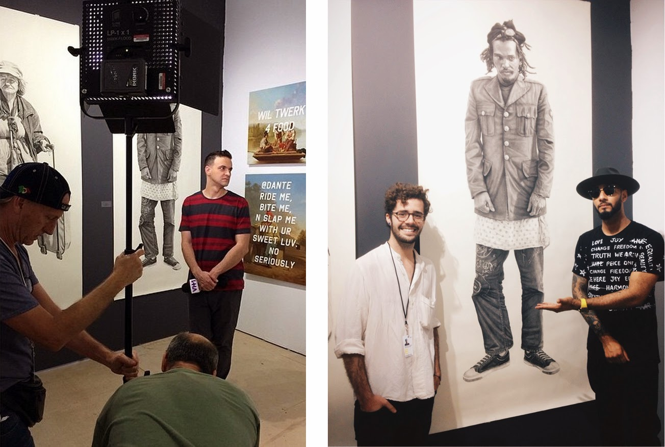 (L) Jim Shearer featuring my and Shawn Huckin's work on VH1's top 20 countdown. (R) Swizz Beats stopped by to say hi.