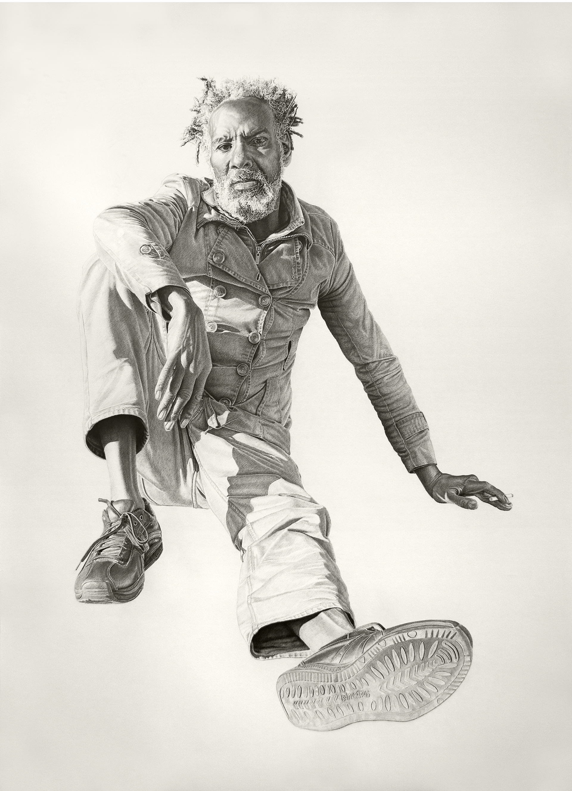 Eugene #4, 52x72in, charcoal & graphite on paper, 2014