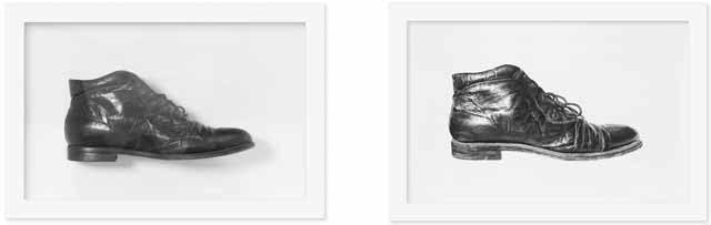 Found Object #11 (Shoe), Charcoal & Graphite on Paper, 14.75x21 each