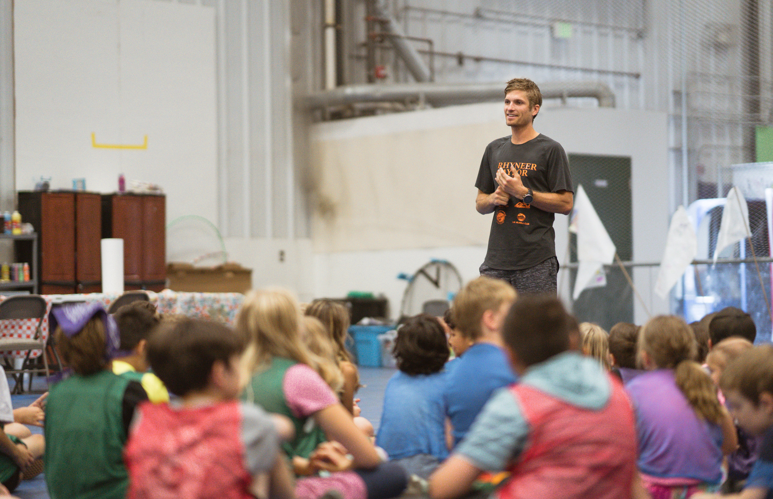 MT. MARATHON CHAMP VISITS KIDS - David Norris spent time with kids at The Alaska Club's summer youth camps.