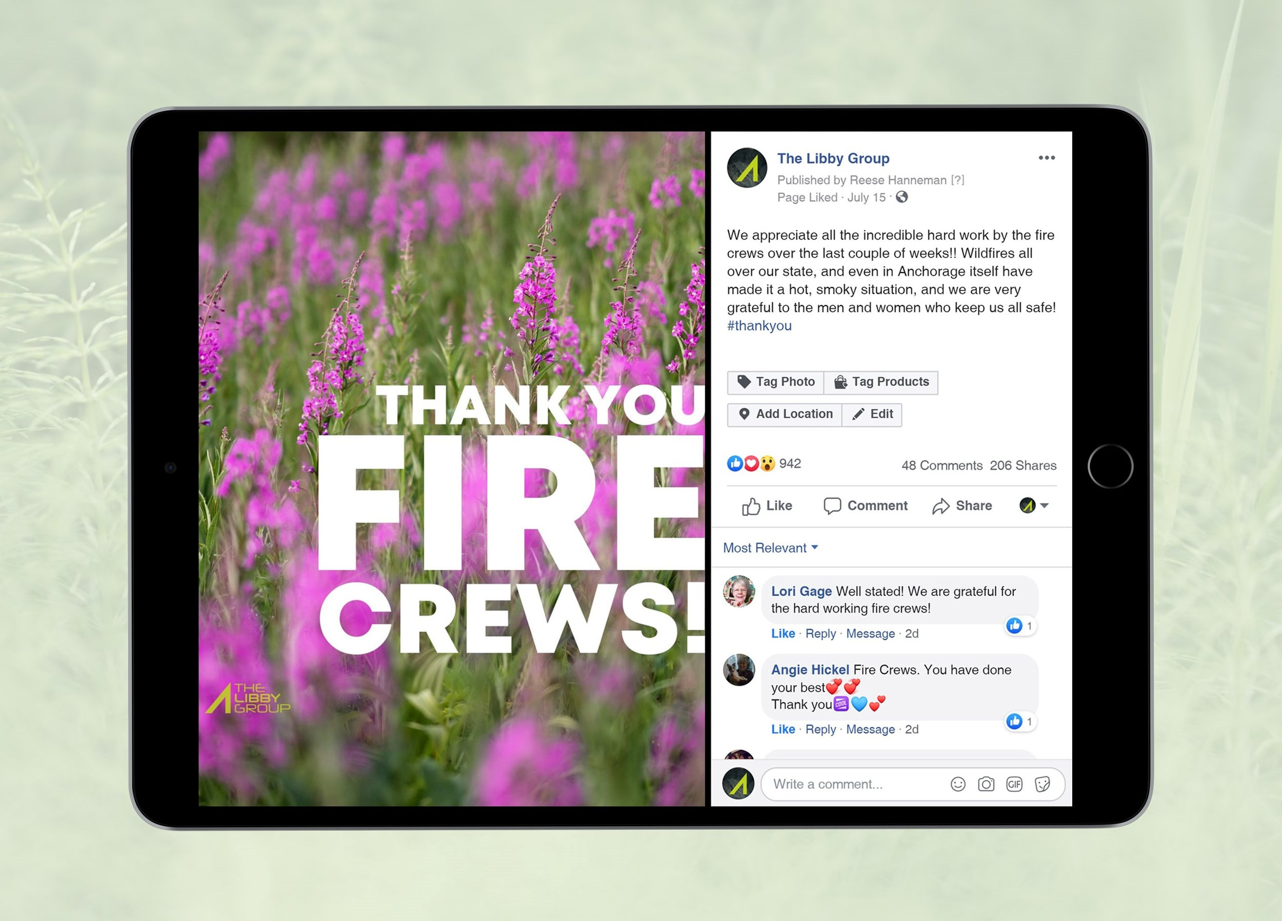 THE FIRES HAVE BEEN PUT OUT (MOSTLY) - The community gets behind collective thank you notes.