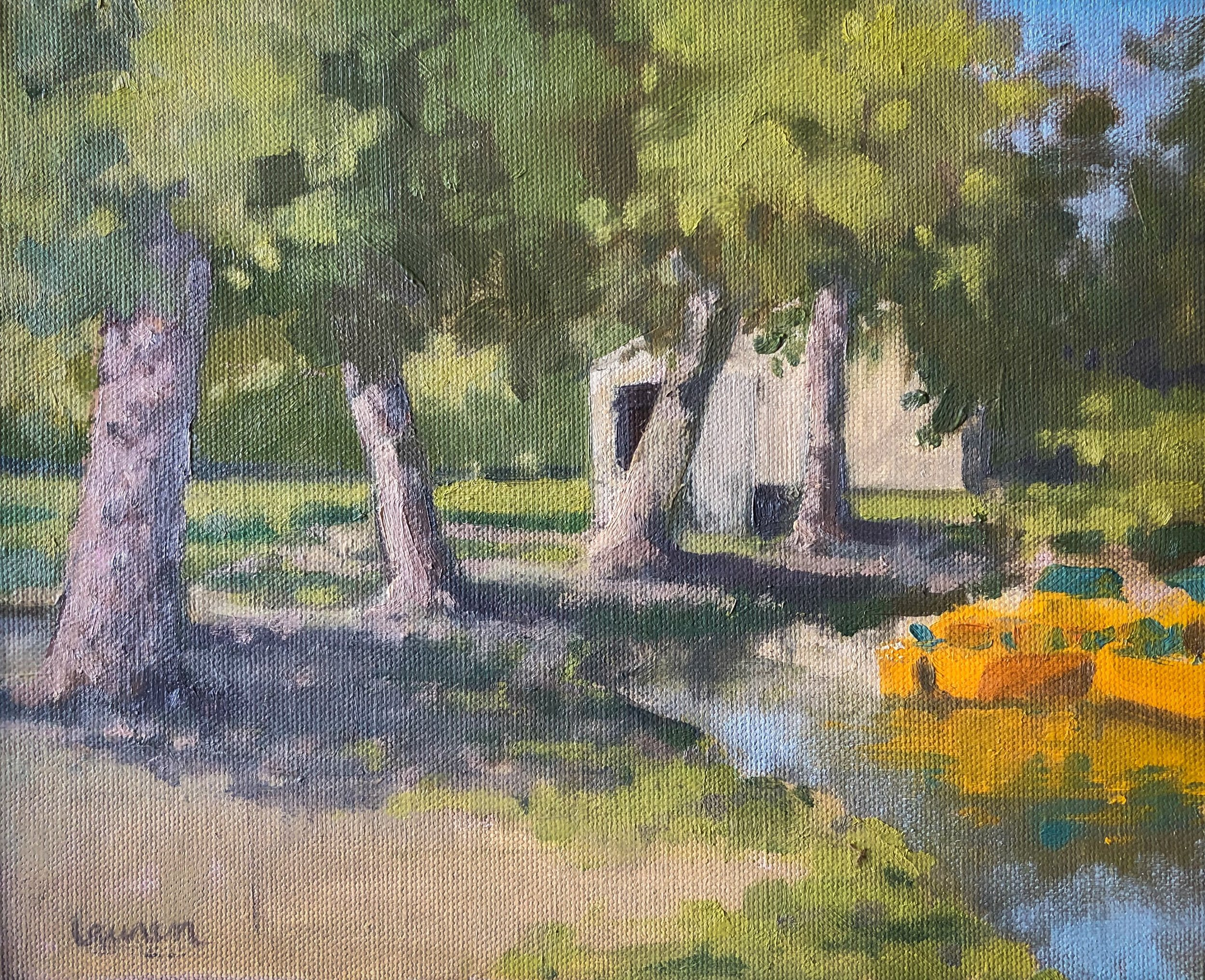 """Wash Park, Denver, CO, 2017"" 8x10 oil on canvas   SOLD - in support of La Napoule Art Foundation"