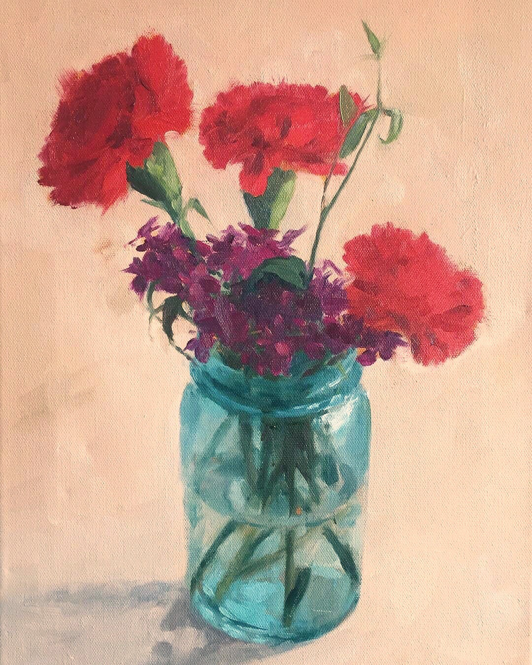 Three Red Carnations