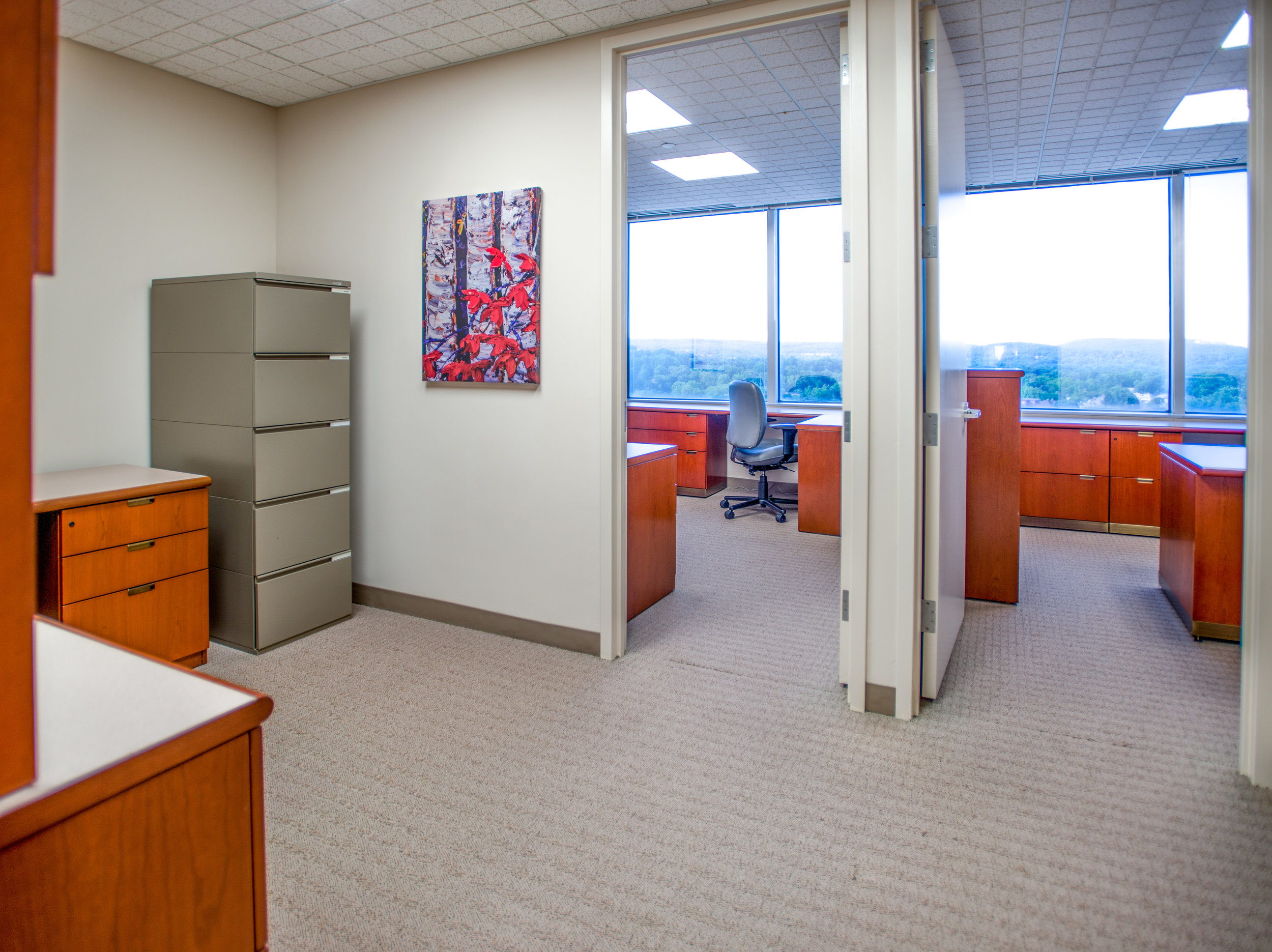 A three room/4 person Symphony Suite on the 14th Floor at Symphony Workplaces - Morristown