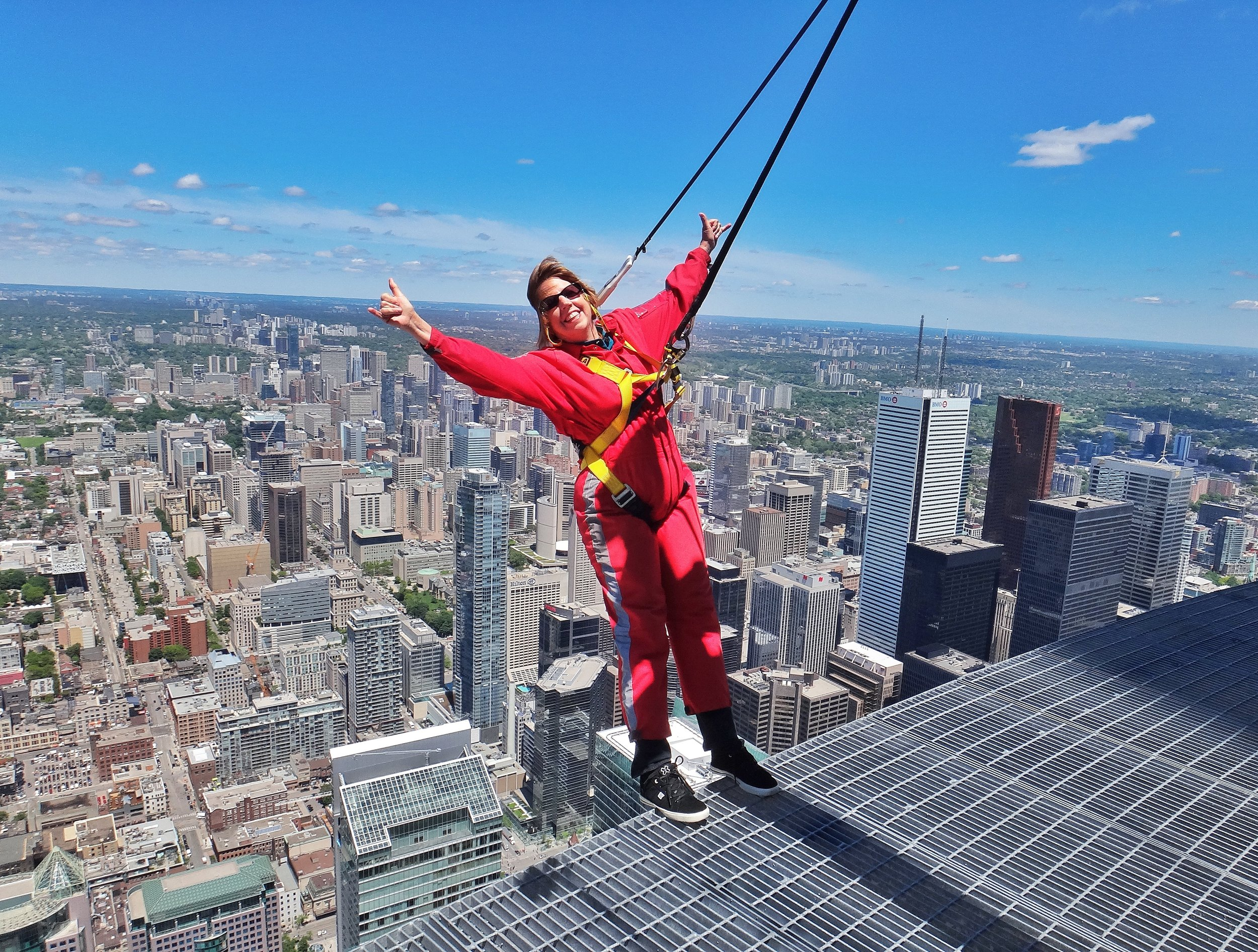 Hanging loose above downtown Toronto.