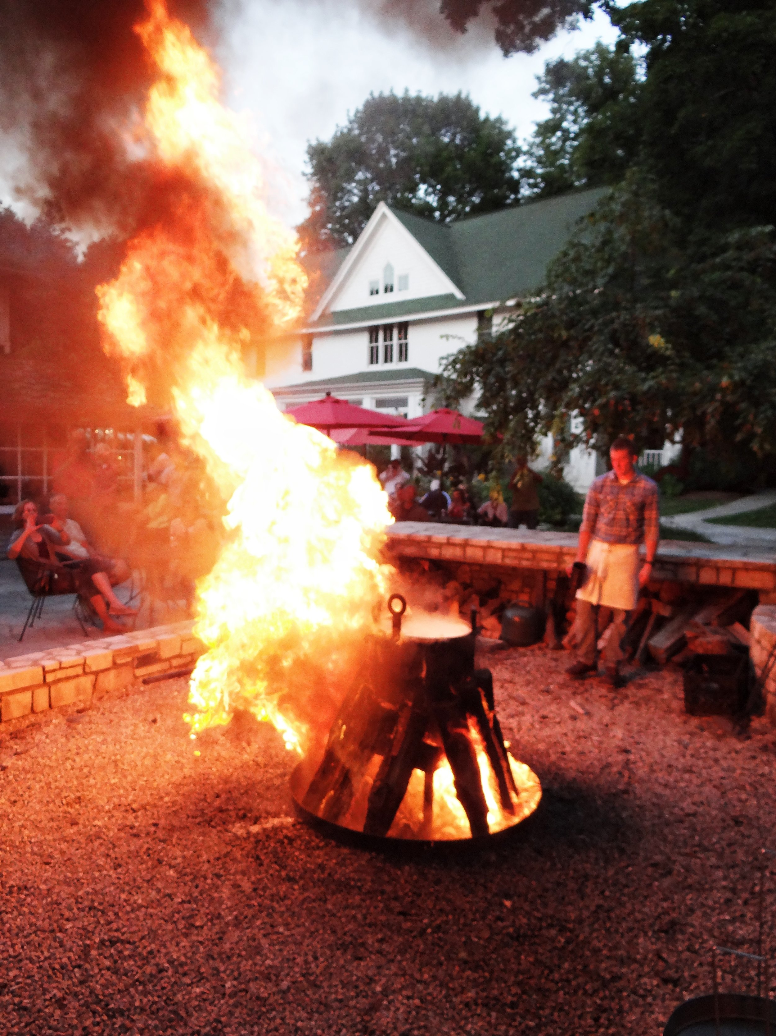 A Door County tradition: Fish boil at the White Gull Inn