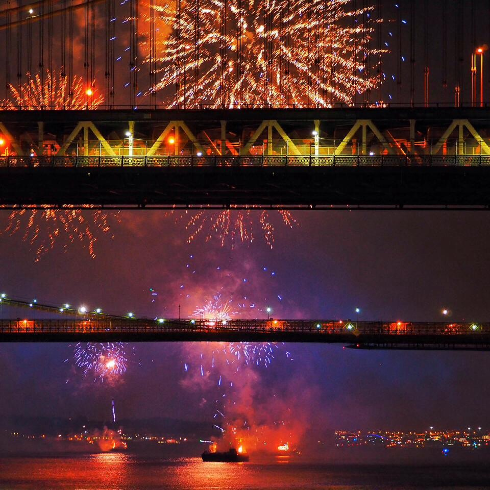 Celebrating the open road with July 4 fireworks over the East River
