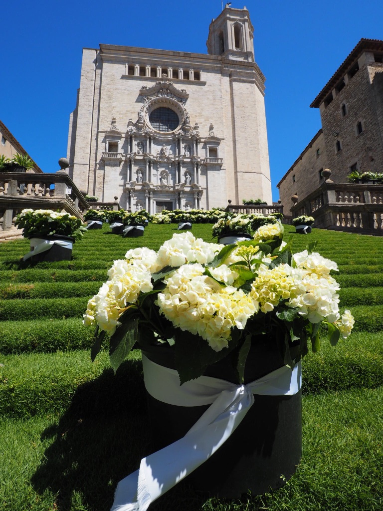Our May weekend in Girona, Spain coincided with the annual Temps de Flor (flower festival)