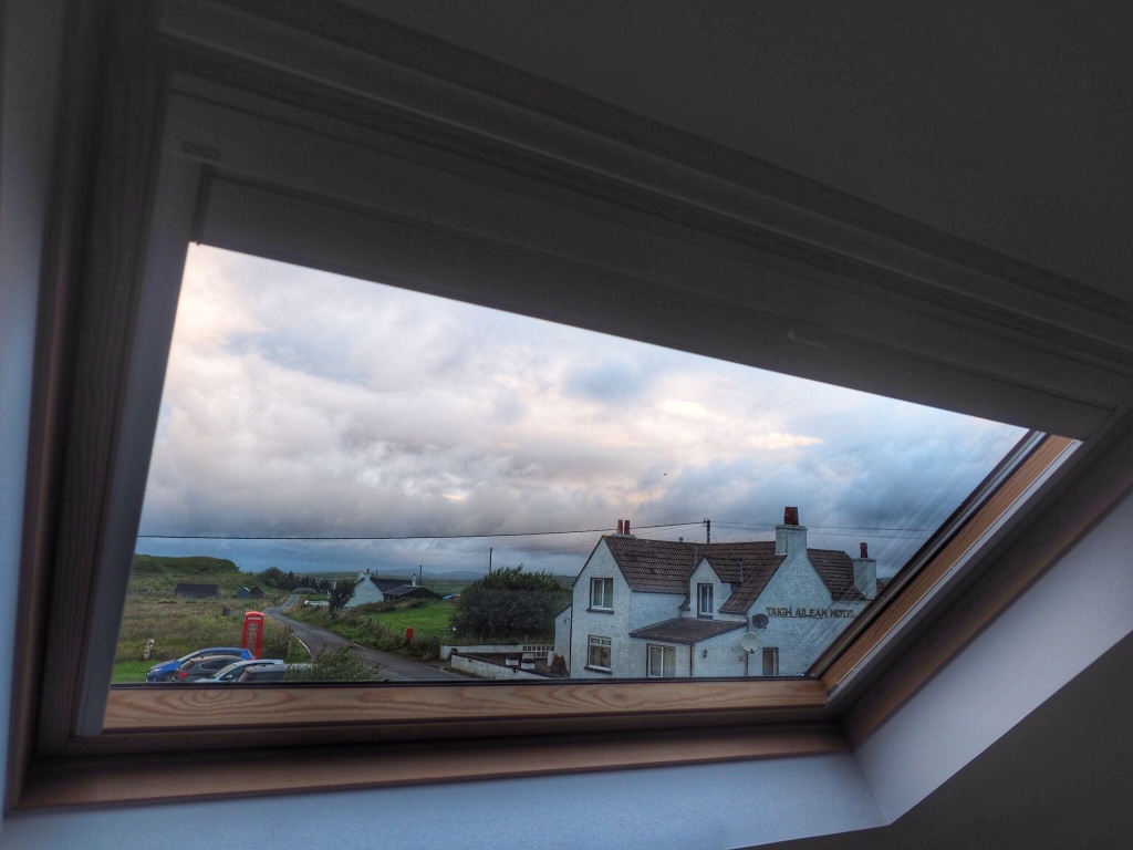 The view from our home for a week on Scotland's Isle of Skye