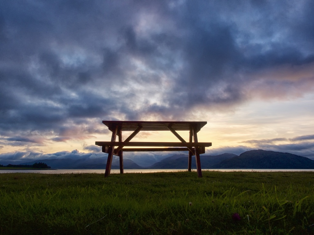 The perfect vantage point for admiring Scotland's Loch Linnhe, near Glencoe