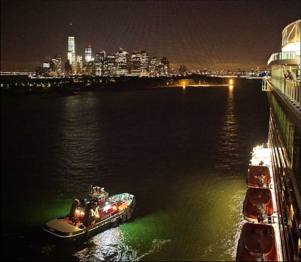 Our ship the Regal Princess makes a pre-dawn arrival into New York City