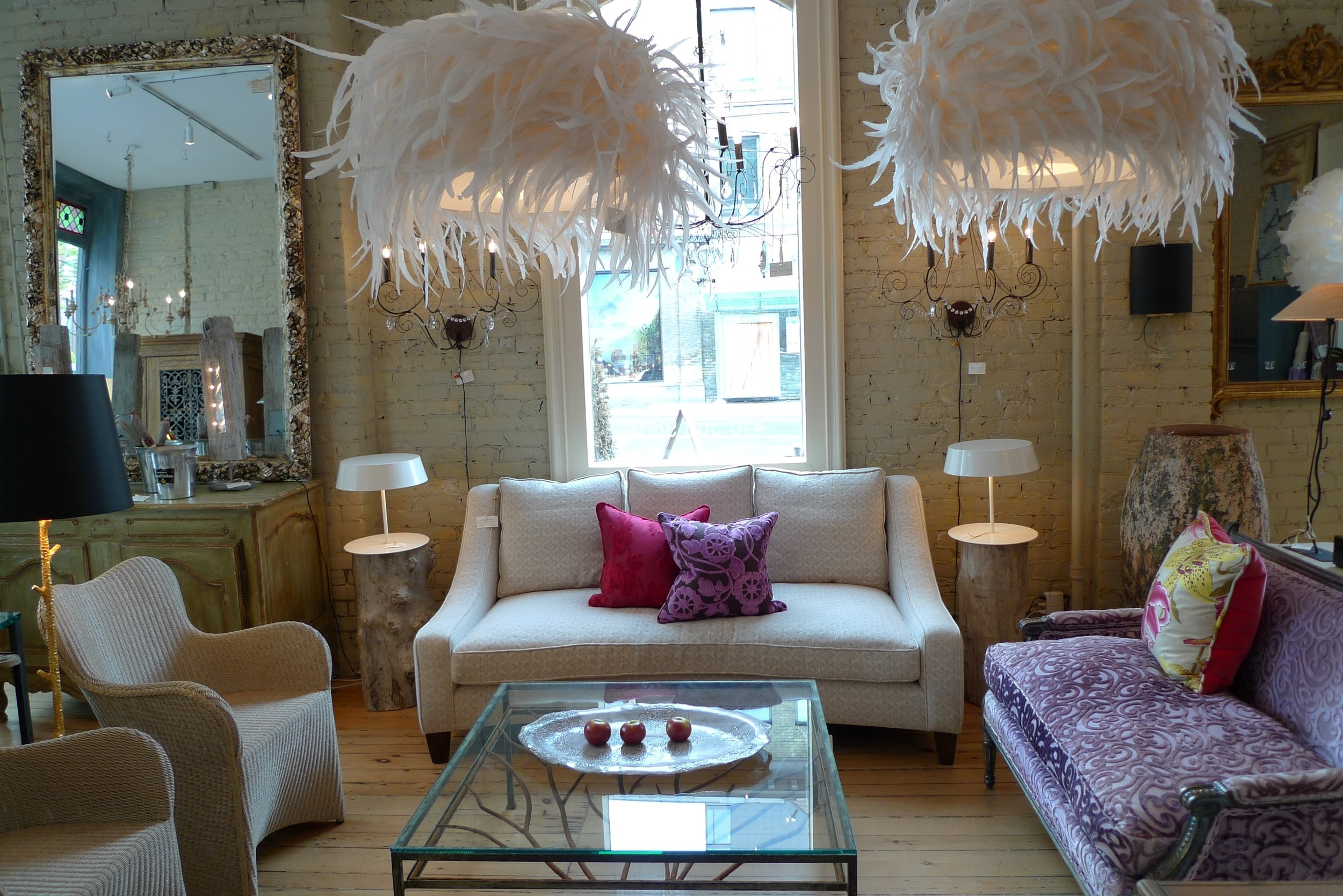 Feathered Lamps