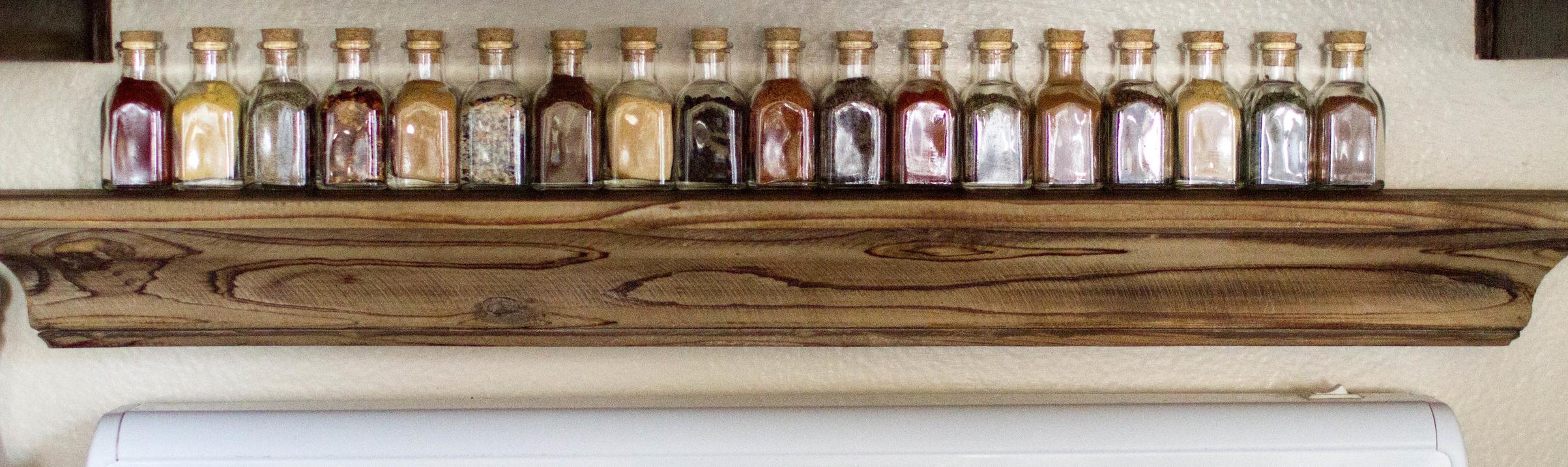 Shop mini jars  HERE    Shop floating wall shelf  HERE