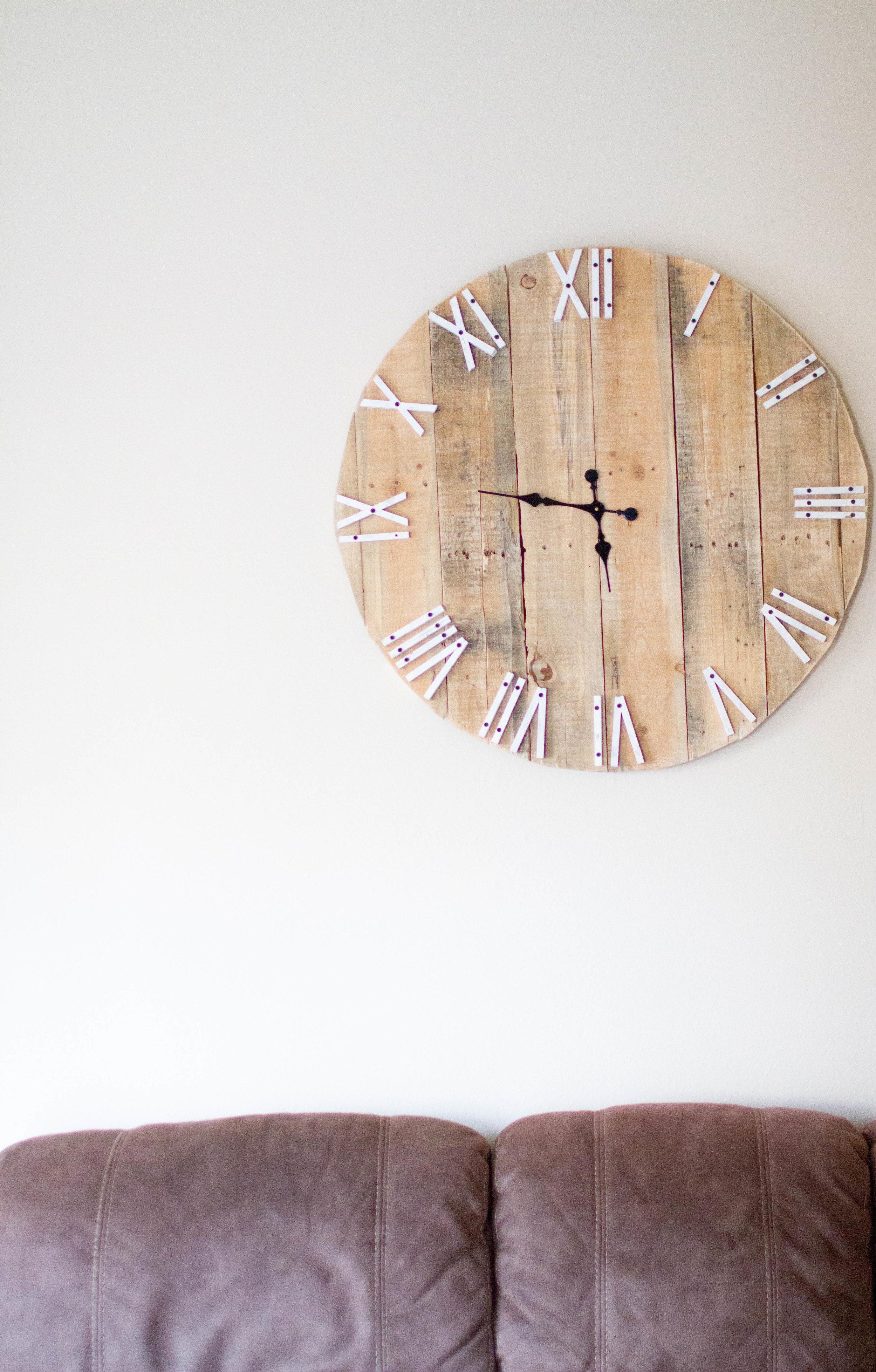 Shop similar Etsy clock  HERE  for $100