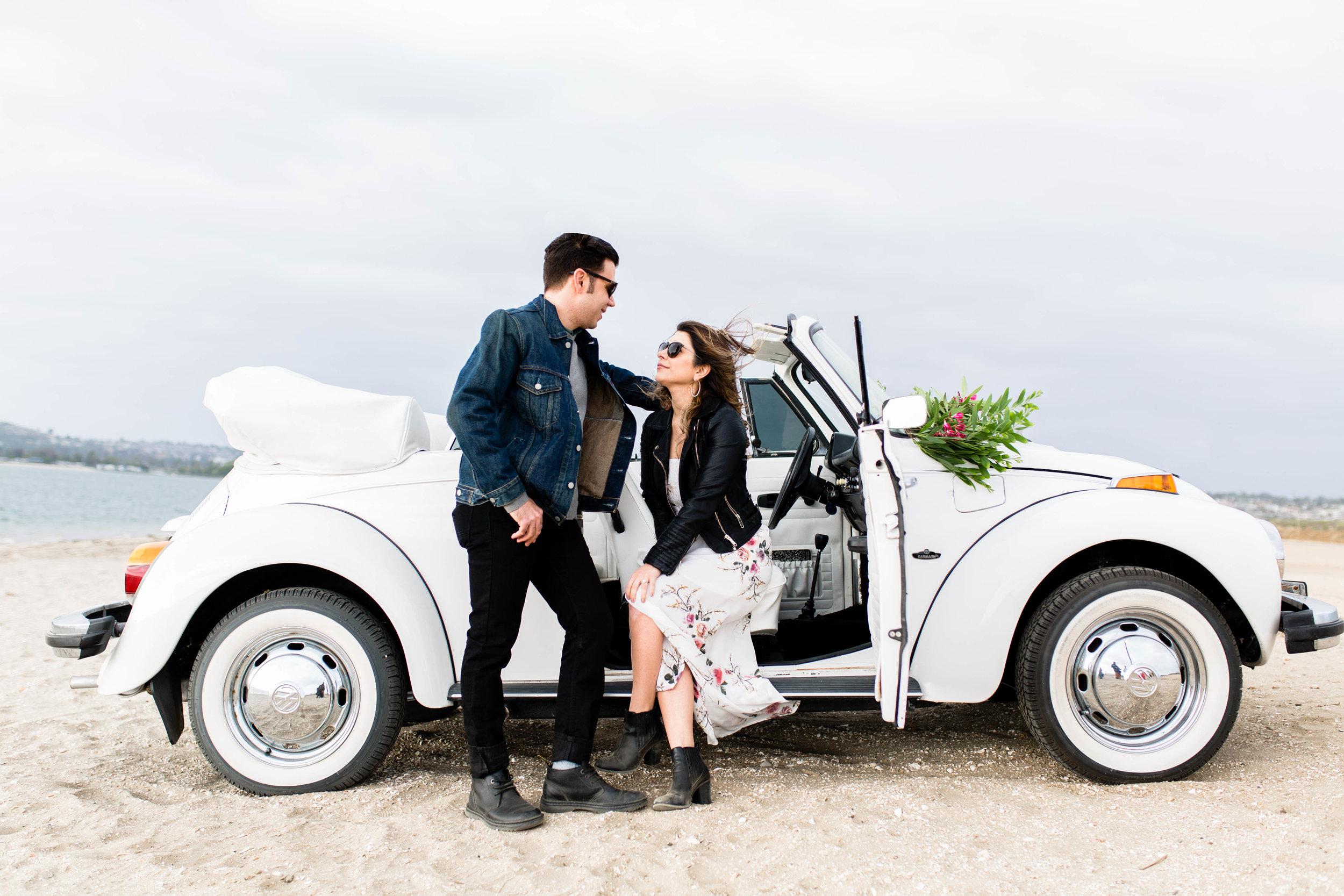 Edgy VW Bug Engagement SamErica Studios