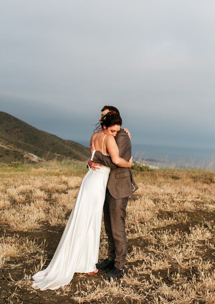 SamErica Studios - Couples portraits mountaintop wedding in Malibu