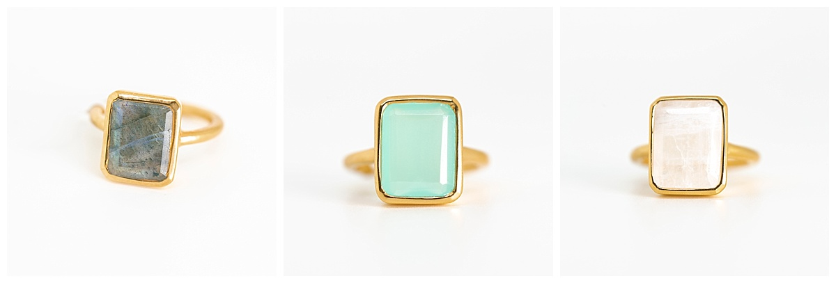 SamErica Studios - teal and blue wedding rings
