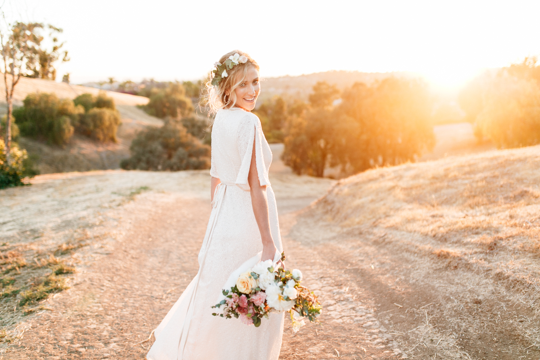 SamErica Studios - modern boho bride portrait