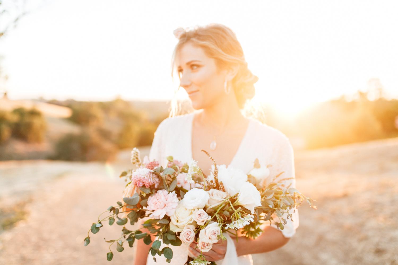 SamErica Studios - modern boho bride portrait - wedding floral crown