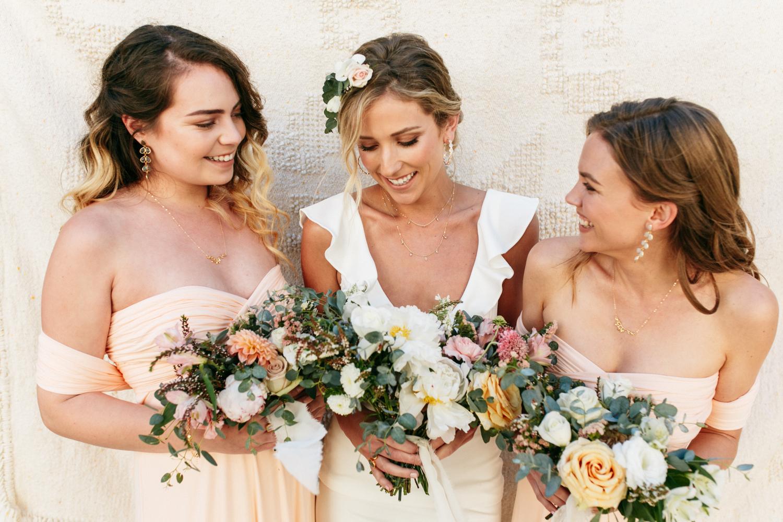 SamErica Studios - blush pink bridesmaids - minimalist wedding jewelry - branding lifestyle photography