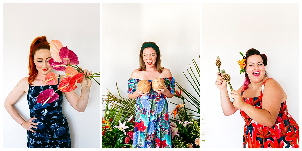 SamErica Studios - San Diego Lifestyle Branding Photographer - Native Poppy Tropical Pool Party - rockabilly makeup