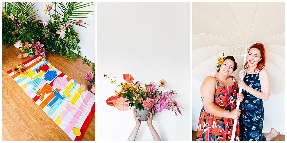 SamErica Studios - San Diego Lifestyle Branding Photographer - Native Poppy Tropical Pool Party
