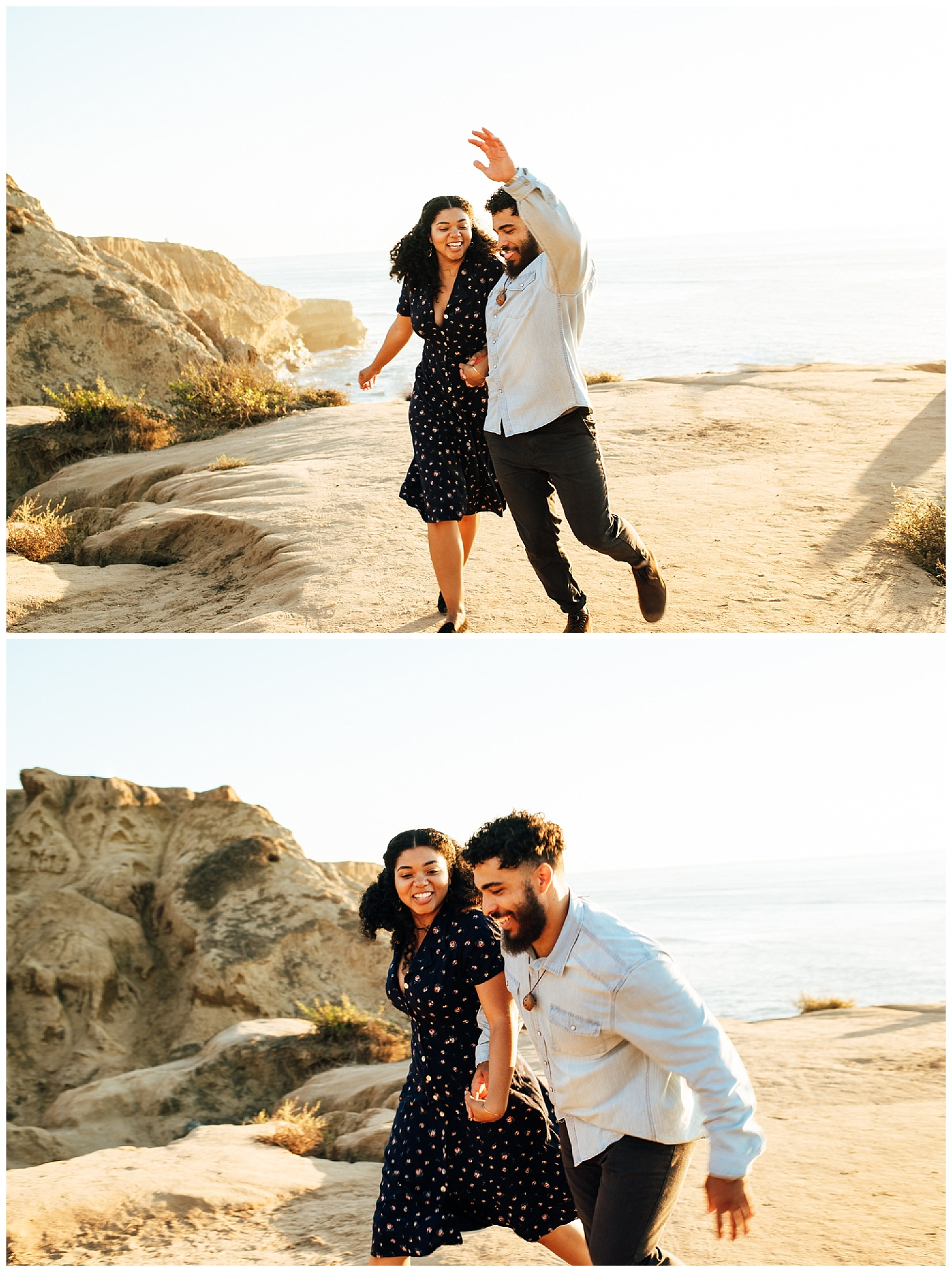 SamErica Studios - San Diego Engagement Photographer - Sunset Cliffs - Fun Couples Poses