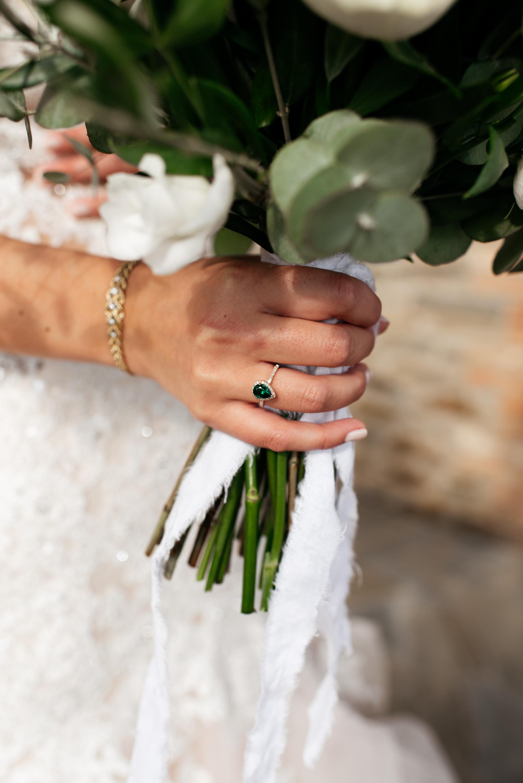 SamErica Studios - Amalfi Italy -  Modern Destination Wedding photographers - emerald engagement ring