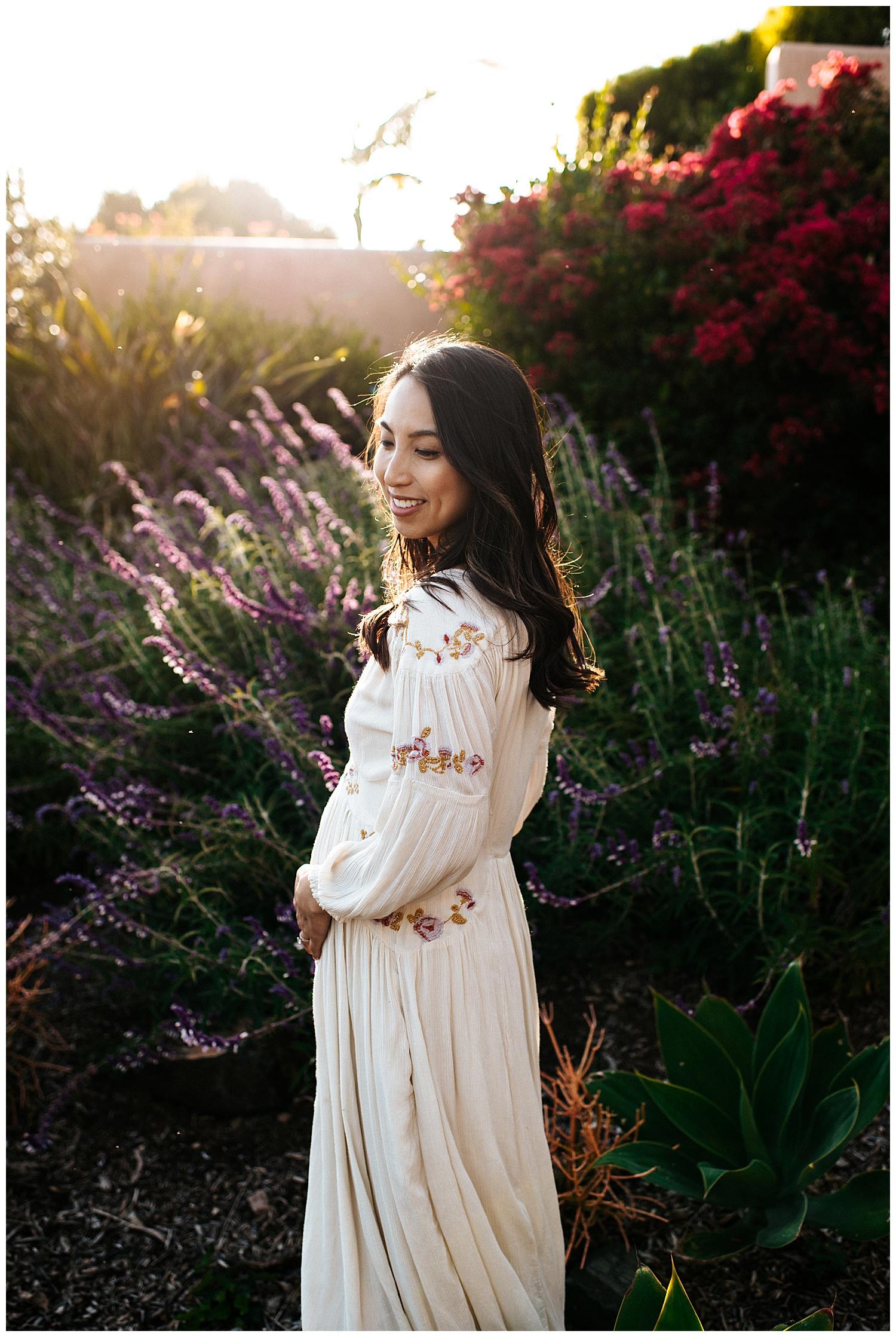 SamErica Studios - San Diego Maternity Photographer - Modern Palm Tree Desert Oasis Maternity Session - San Diego Babymoon at the Villas at Rancho Valencia_0029.jpg