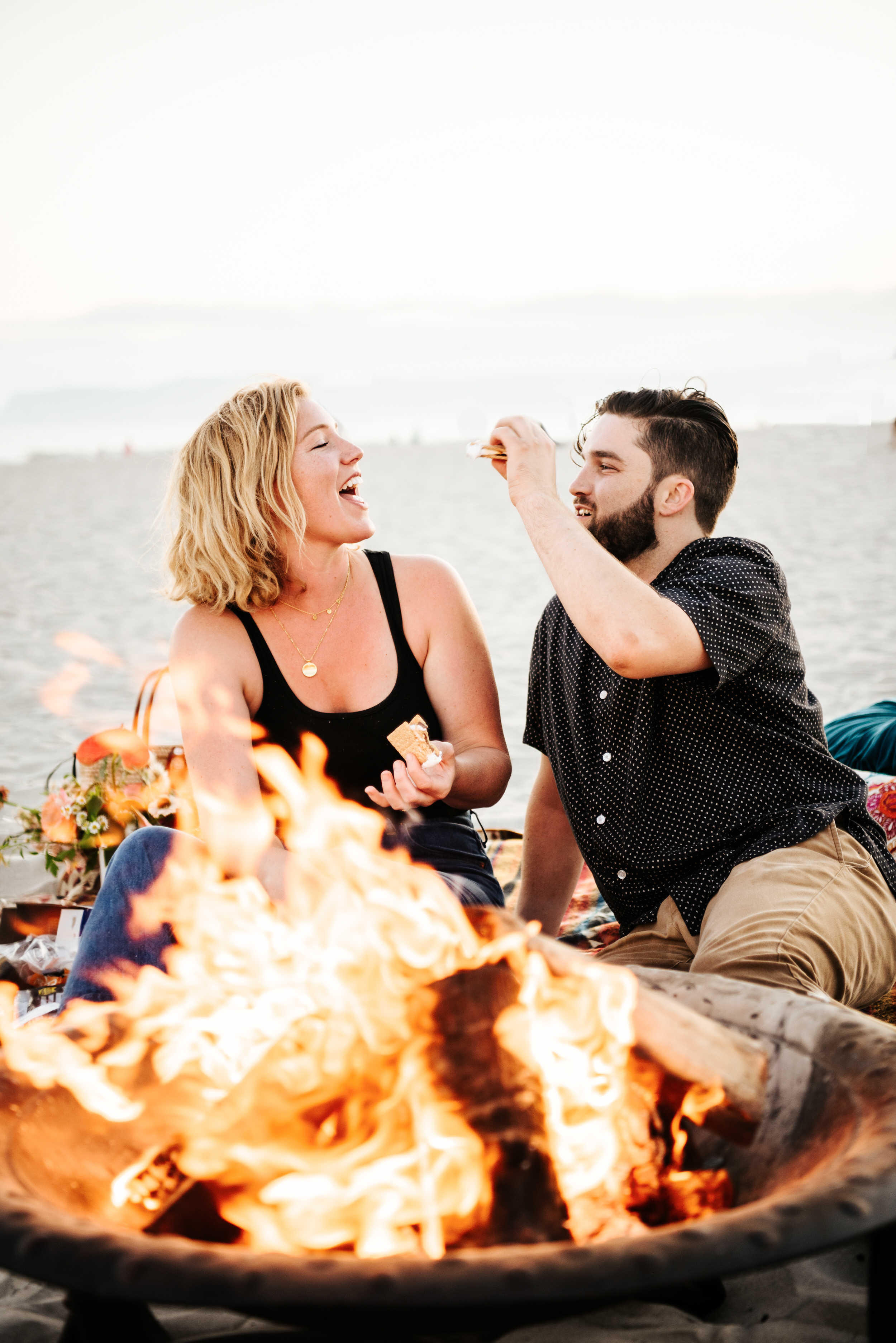 SoCal Standard - San Diego Engagement Photographer - Beach Bonfire at the Hotel Del Coronado-36.jpg