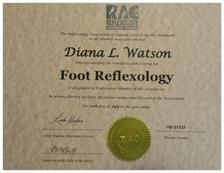 Certified in Foot Reflexology by RAC (2009)