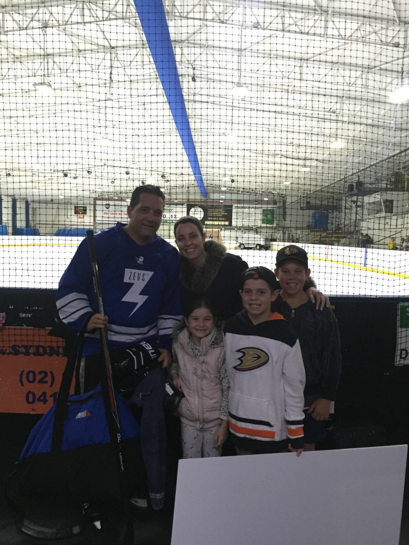 Family at the Ice Rink