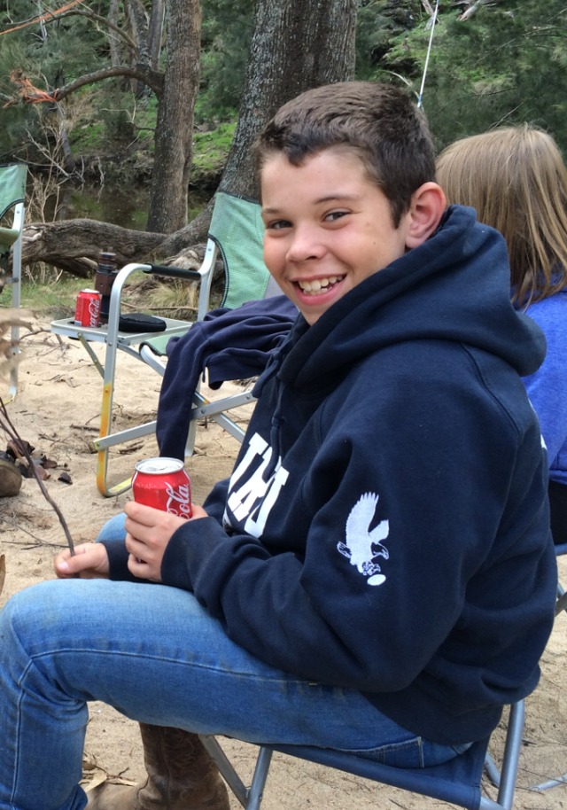Noah on a farm which is his favourite thing to do in the holidays.....