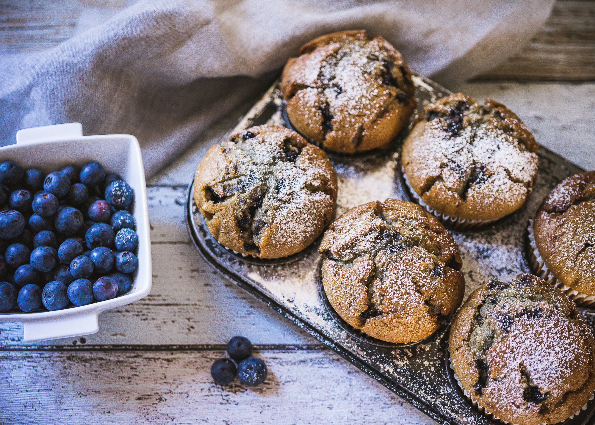 Lactose Free Blueberry Muffins