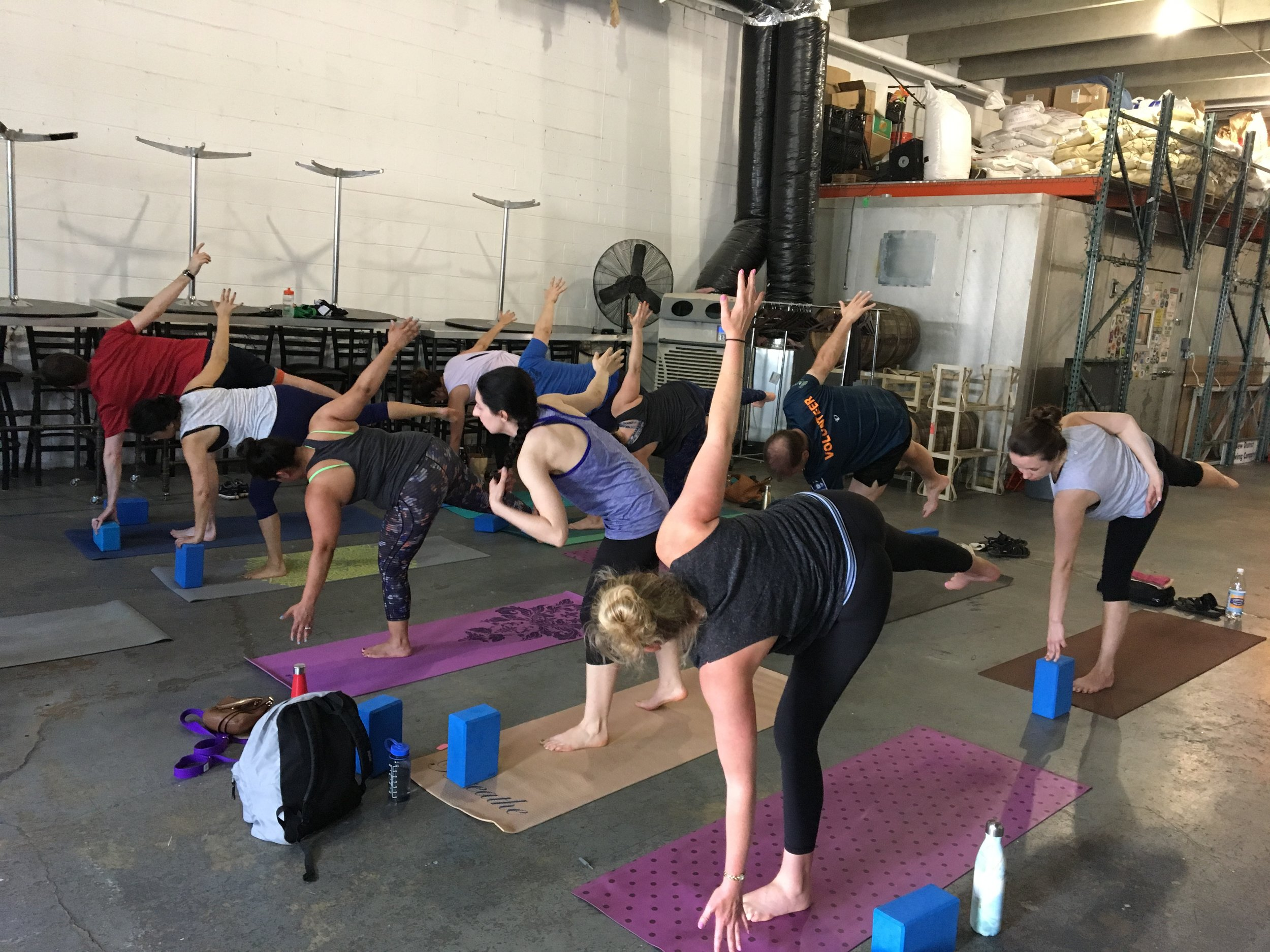 Yoga & Beer at New District Brewing