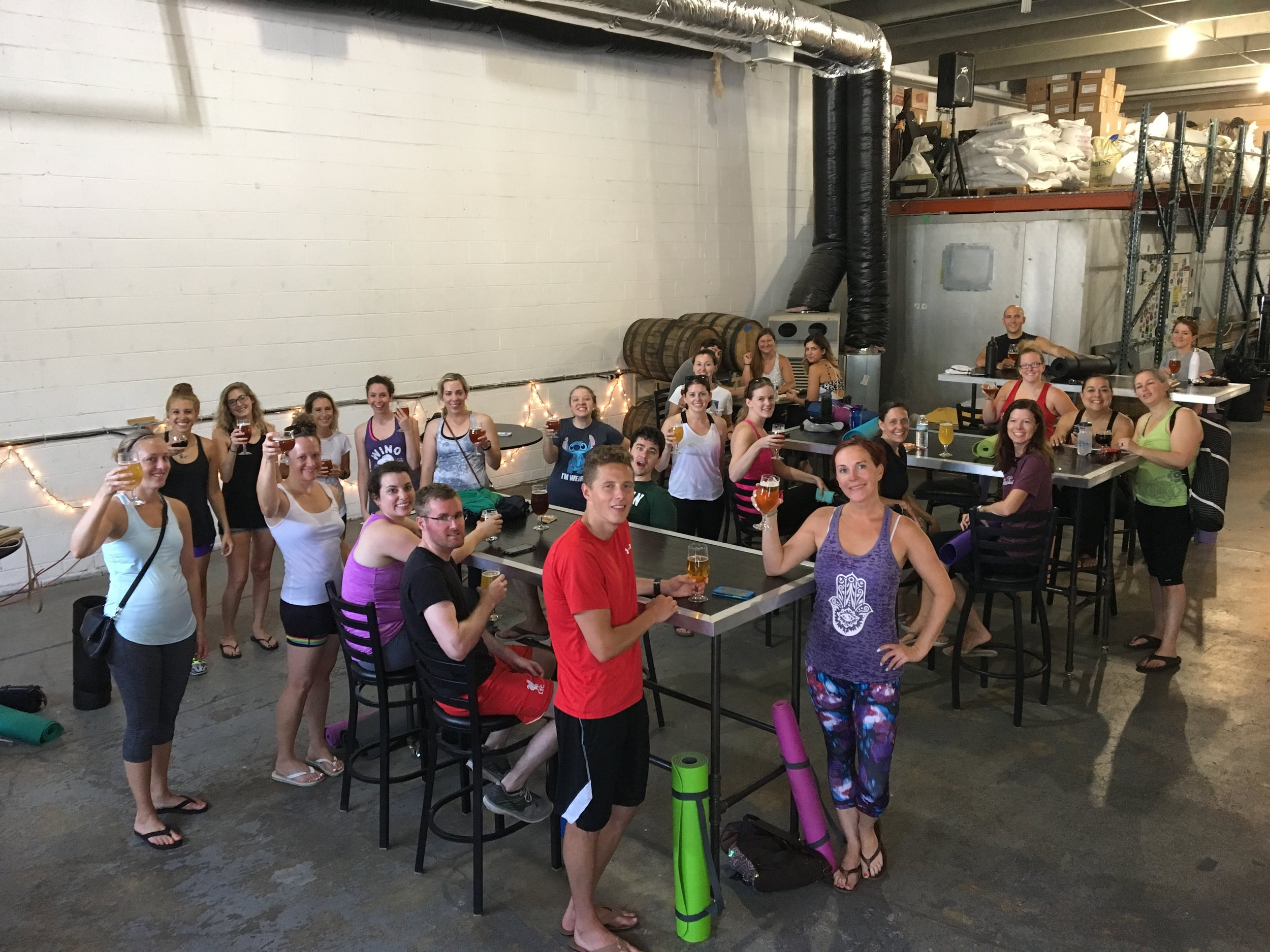 Yoga & Beer at New District Brewing Company