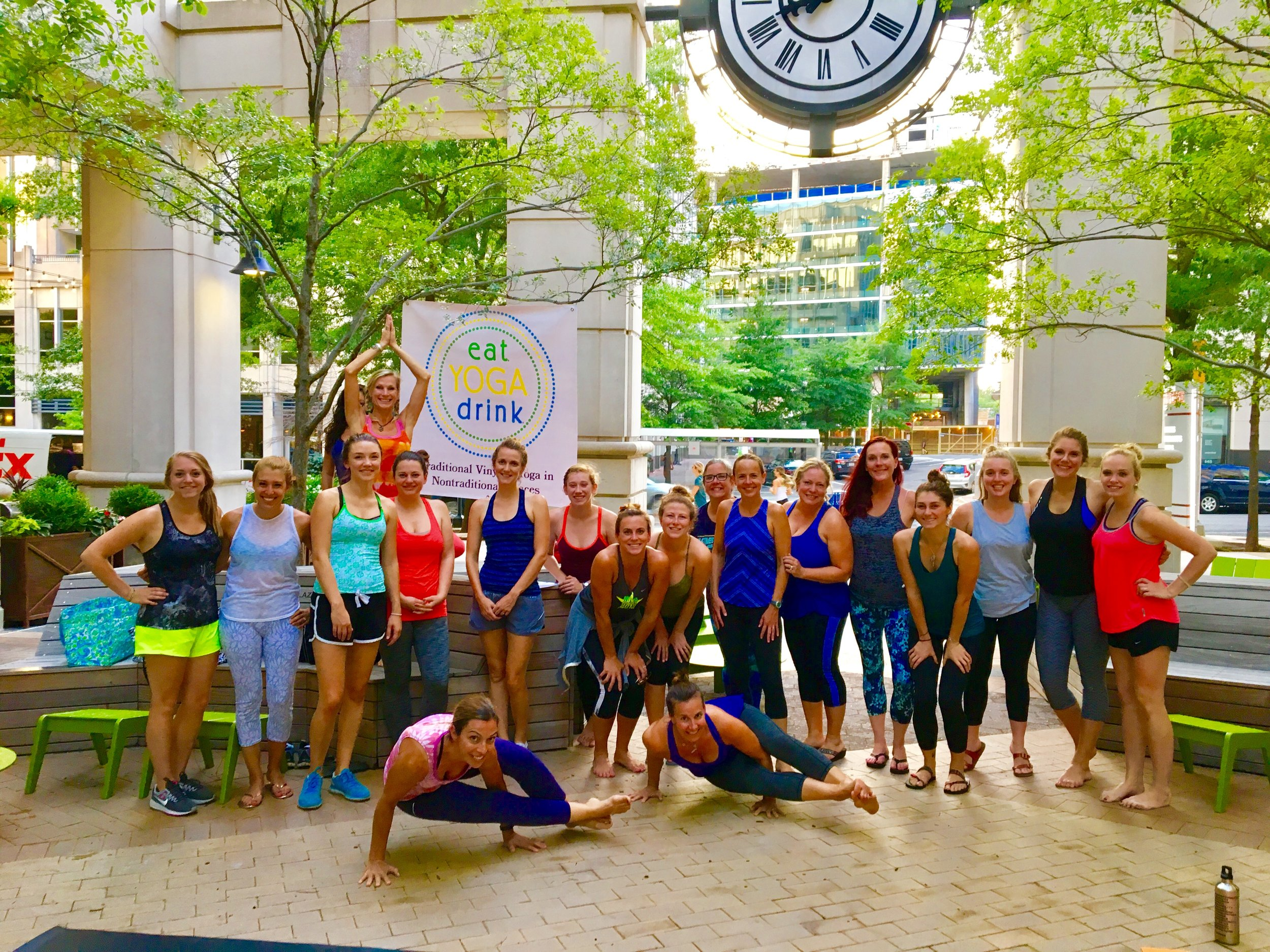 Yoga in the 'Haus at Courthaus Social on Courthouse Plaza