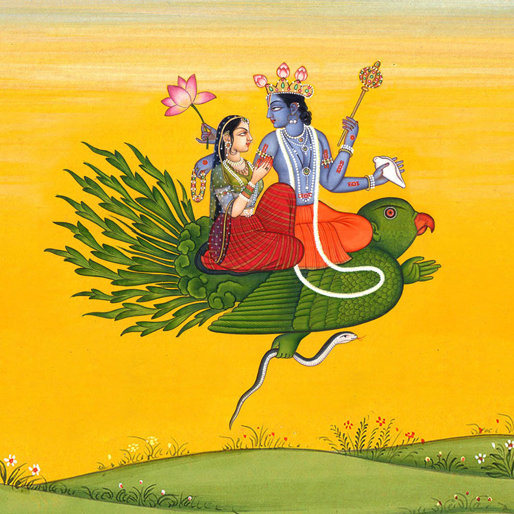 The Garuda is a large mythical bird that appears in both Hindu and Buddhist mythology. Garuda is the mount of the Lord Vishnu. The phoenix is considered a contemporary representation of Garuda.